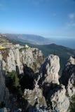 Bergen van zuidelijke kust van de Krim Stock Afbeelding