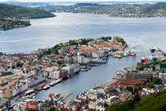 Bergen, view of the city from above Royalty Free Stock Image