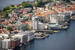 Bergen, view of the city from above Royalty Free Stock Photos
