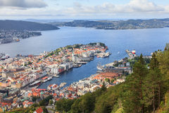 Bergen View Royalty Free Stock Images