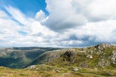 Bergen. View from the tallest mountain near Bergen Ulriken Royalty Free Stock Image