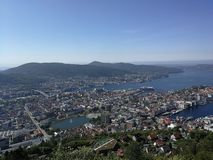 Bergen view royalty free stock photography
