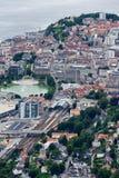 Bergen, vista della città da sopra Immagini Stock Libere da Diritti