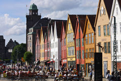 Bergen waterfront Royalty Free Stock Photography