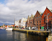 Bergen Waterfront, Norway Royalty Free Stock Images