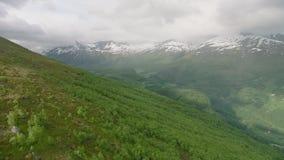 Bergen in West-Noorwegen stock videobeelden