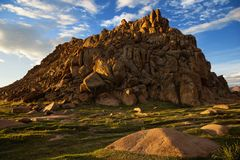 Bergen in Westelijk Mongolië royalty-vrije stock foto