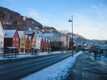 Bergen in Winter royalty free stock photos