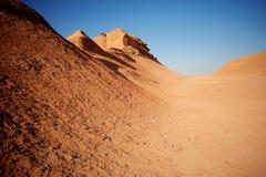 Bergen in woestijn Royalty-vrije Stock Afbeelding