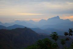 Bergen in zonsondergang in Brazilië Royalty-vrije Stock Afbeelding