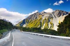Bergengletsjers, Nieuw Zeeland Stock Afbeeldingen