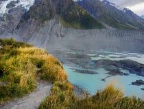 Bergengletsjers, Nieuw Zeeland Royalty-vrije Stock Foto