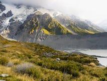 Bergengletsjers, Nieuw Zeeland Royalty-vrije Stock Afbeelding