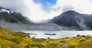 Bergengletsjers, Nieuw Zeeland Royalty-vrije Stock Afbeeldingen