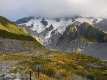 Bergengletsjers, Nieuw Zeeland Stock Afbeelding