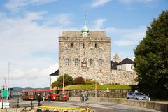 Bergenhus Fortress Stock Image