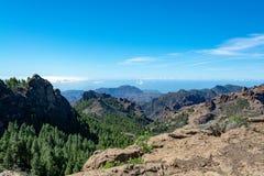 Bergenlandschap op Gran Canaria-eiland, Kanarie, Spanje stock afbeeldingen