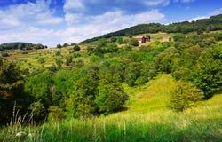 Bergenlandschap van Montseny catalonië Royalty-vrije Stock Foto's