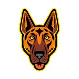 Berger allemand Dog Head Front Mascot illustration de vecteur
