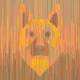 Berger allemand rayé de chien jaune Images libres de droits