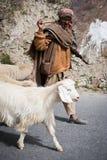 Berger de l'Himalaya d'Inde, vallée de Lahoul Photographie stock