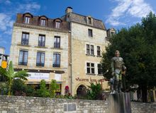 BERGERAC, FRANCE - SEPTEMBER 10, 2015: Statue of Cyrano situated in Bergerac, Dordogne, France, September 2015 Royalty Free Stock Image