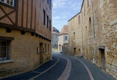 BERGERAC, FRANCE - SEPTEMBER 10, 2015: Streets of Bergerac are in Dordogne, France, September 2015 Royalty Free Stock Image