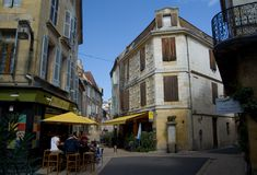 BERGERAC, FRANCE - SEPTEMBER 10, 2015: Streets of Bergerac, Dordogne, France, September 2015 Royalty Free Stock Image