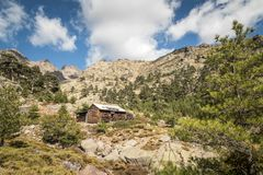 Bergerie de Ballone on GR20 at Paglia Orba in Corsica Stock Images