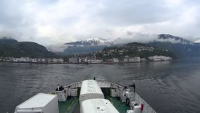 Beautiful Norway landscape as seen from a ferry ride transportation of Cars and Trucks Over Water stock video footage
