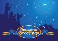 Bergers de salutations de Noël Images stock