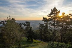 Berget Avala i Serbien royaltyfria bilder