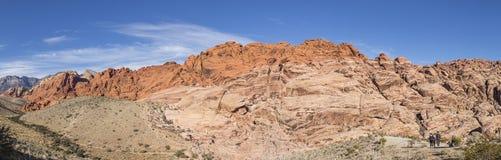 Berget i rött vaggar kanjonmedborgarebeskydd Arkivbild
