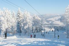Berget skidar Royaltyfri Foto