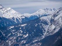 BergEuropa snöig fjällängar i Österrike Royaltyfri Fotografi