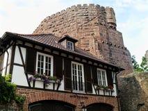 Bergfeste堡垒在Dilsberg 德国 图库摄影