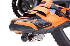 Bergfiets het cirkelen schoenen Stock Afbeelding