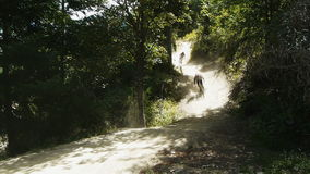 Bergfietsers stock footage