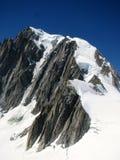 Bergfjällängsikt Monte Bianco Arkivfoto