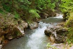 Bergflod Fotografering för Bildbyråer