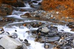 Bergflod, Frankrike, Europa Royaltyfria Bilder