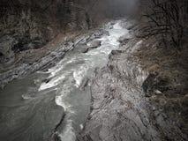 Bergflod i kanjon Royaltyfri Fotografi