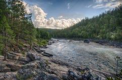 Bergflod i Norge sommartur Fotografering för Bildbyråer