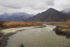 bergflod russia Arkivbilder
