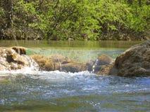 Bergfloden i vår Arkivfoton
