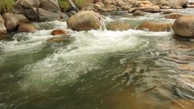 Bergflodplats som panorerar panorama- hög definition stock video