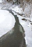 bergflodvinter Arkivfoto