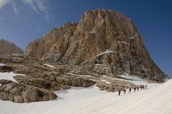 Bergfotvandrare Arkivfoton