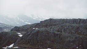 Berggebied bij het westen van Noorwegen stock video
