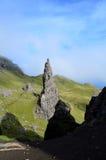 Berggipfel-Felsen auf Skye stockbild